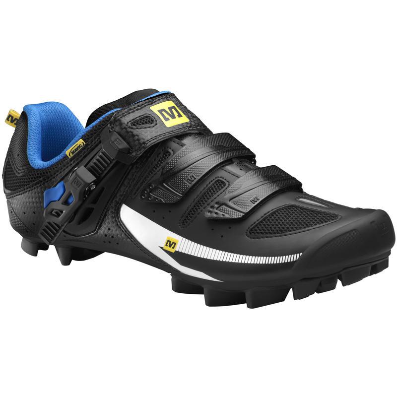 Chaussures de vélo de montagne Rush Noir/Bleu clair