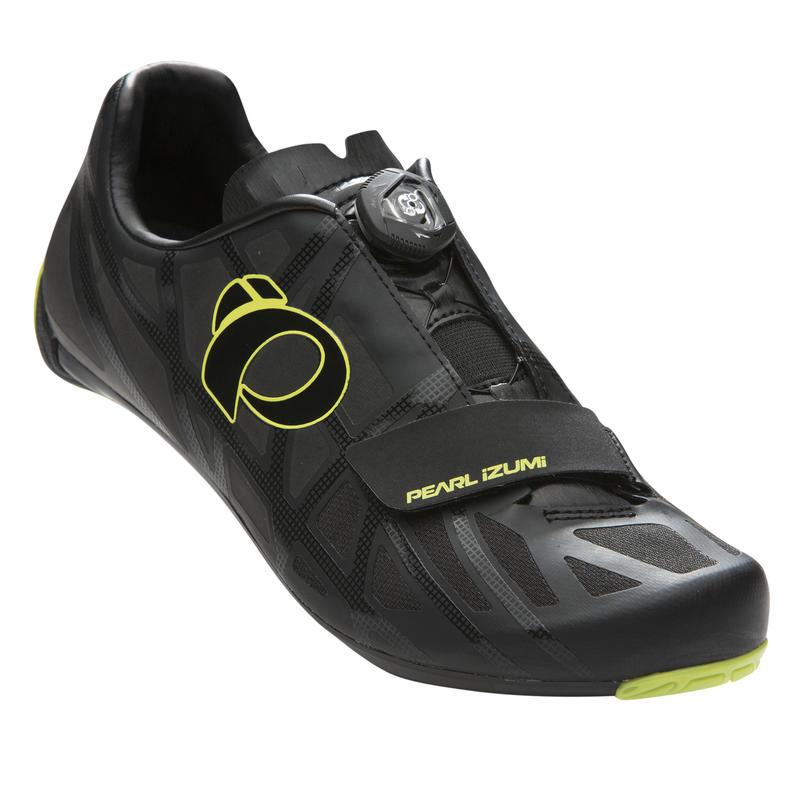 Chaussures de vélo de route Race Road IV Noir/Punch lime