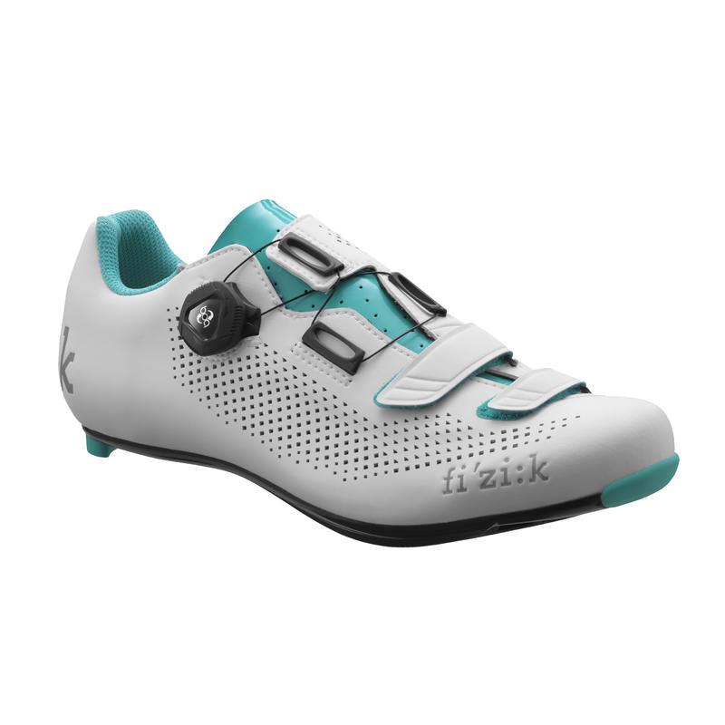 Chaussures de vélo R4B Donna Blanc/Vert émeraude