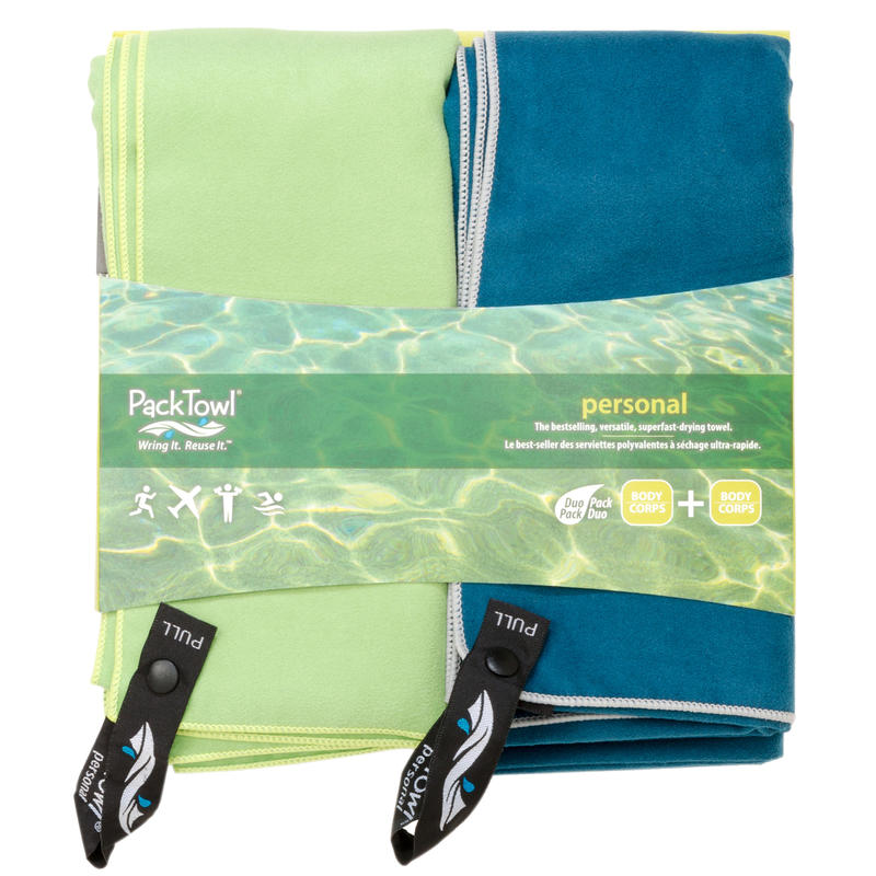 Ensemble de serviettes Personal XL Vert/Bleu