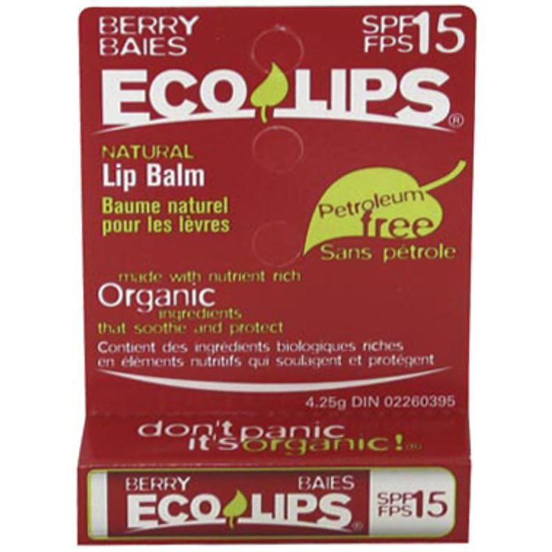 Baume à lèvres à saveur de baies FPS15