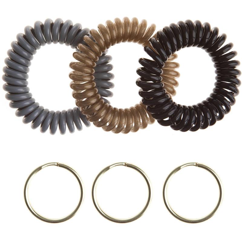 Bracelets extensibles (paquet de 3) Noir/Argent/Or