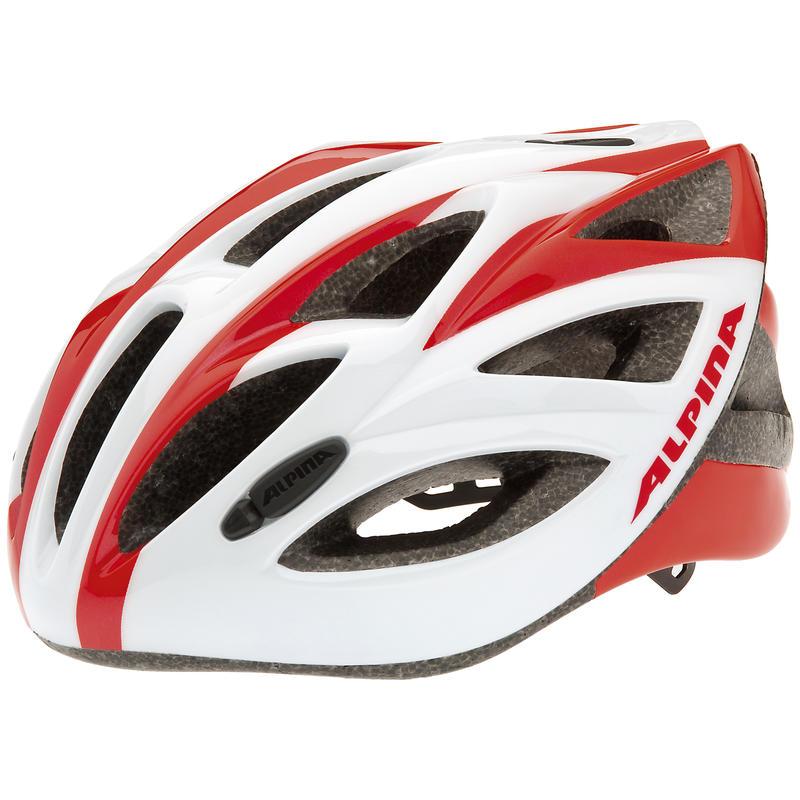 Casque de vélo de route Vector Blanc/Rouge