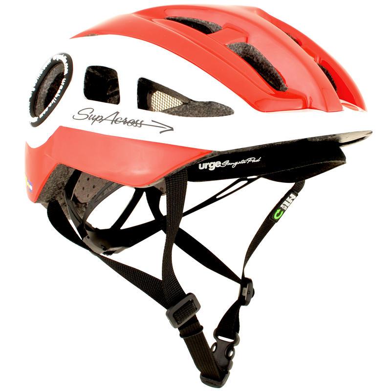 Casque de vélo Supacross Blanc/Rouge