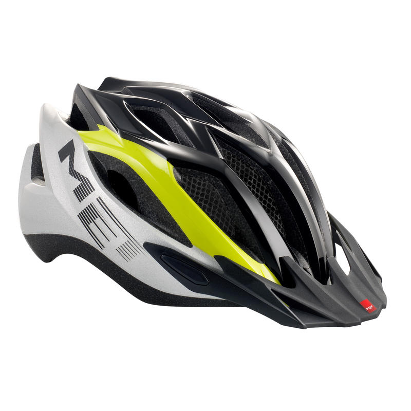 Crossover Helmet lime green/silver/black