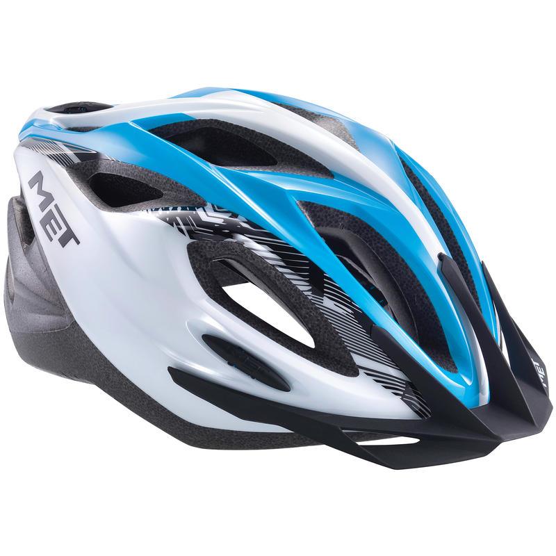 Casque de vélo Xilo Blanc/Cyan
