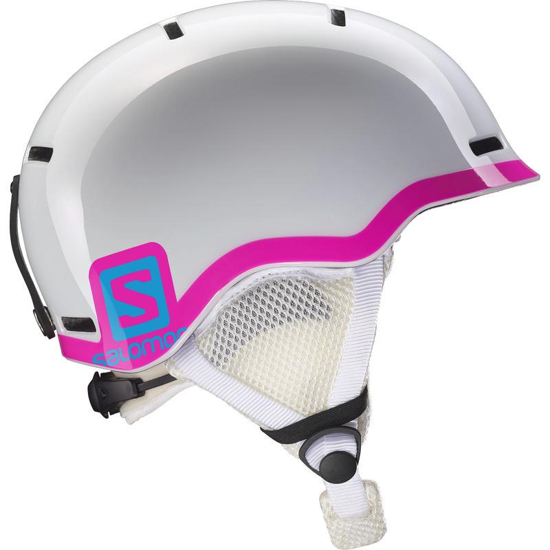 Grom Snow Helmet Glossy White/Pink