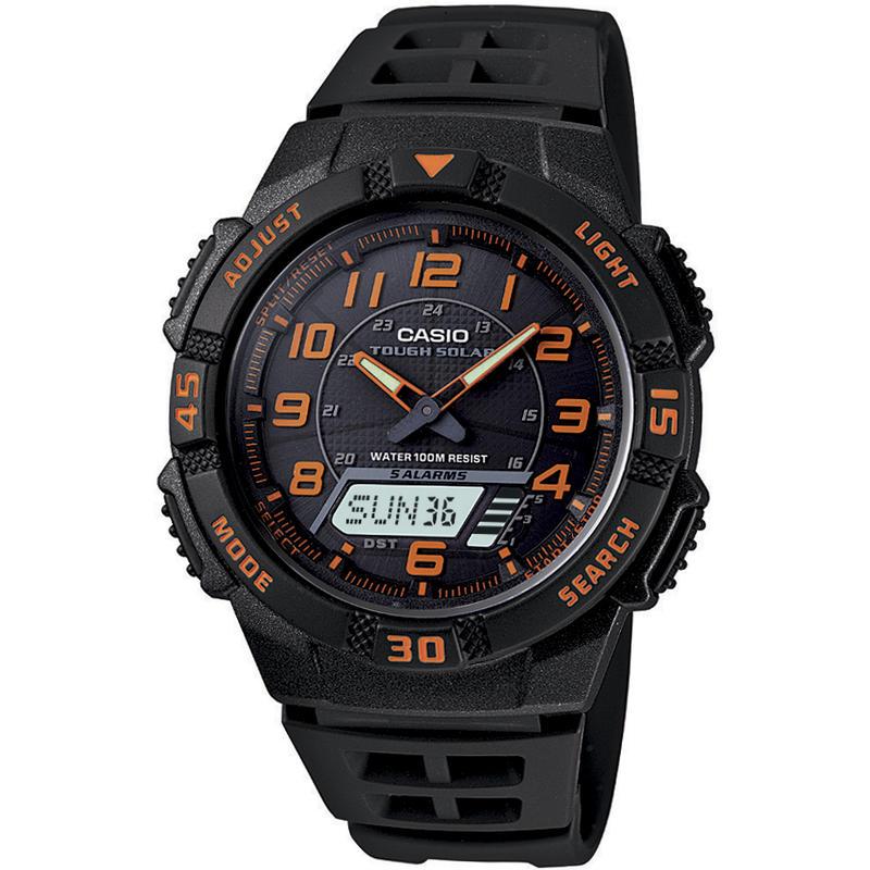 Slim Solar Combi Watch Black