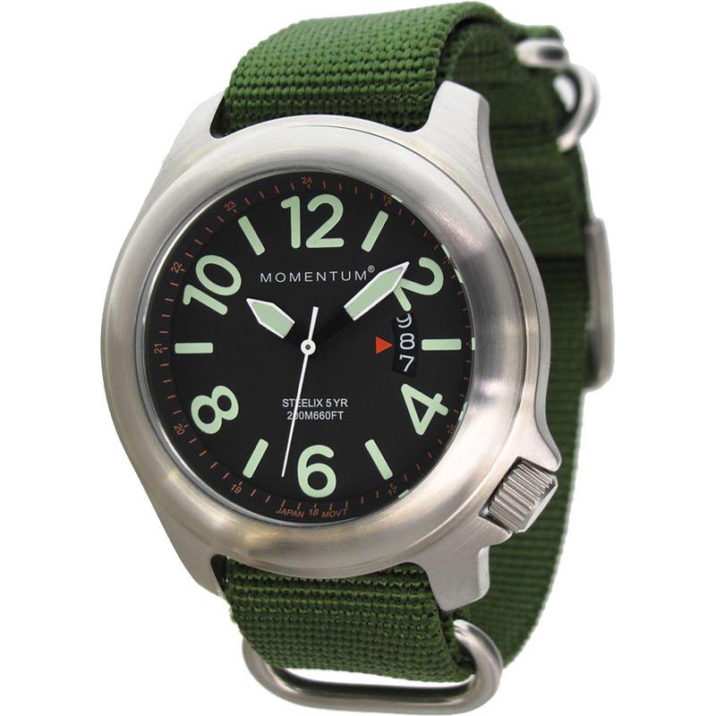 Steelix Watch W/NATO Band Black/Olive