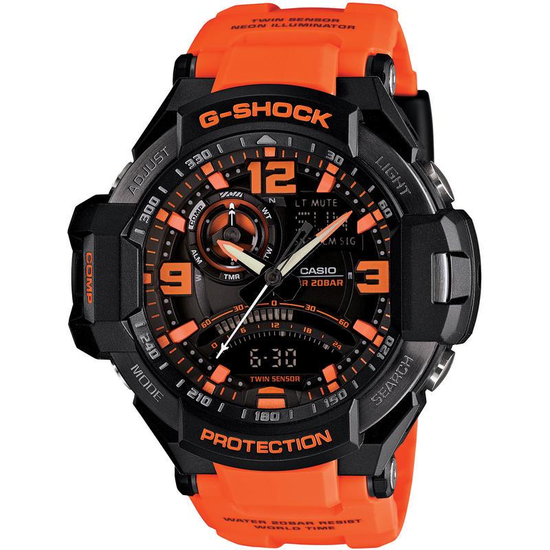 Montre Aviation GA1000 Noir/Orange