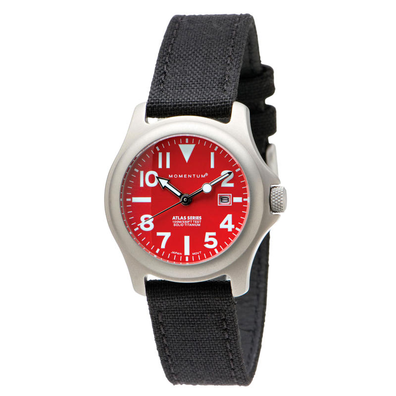 Atlas Watch w/Cordura Band Red/Black