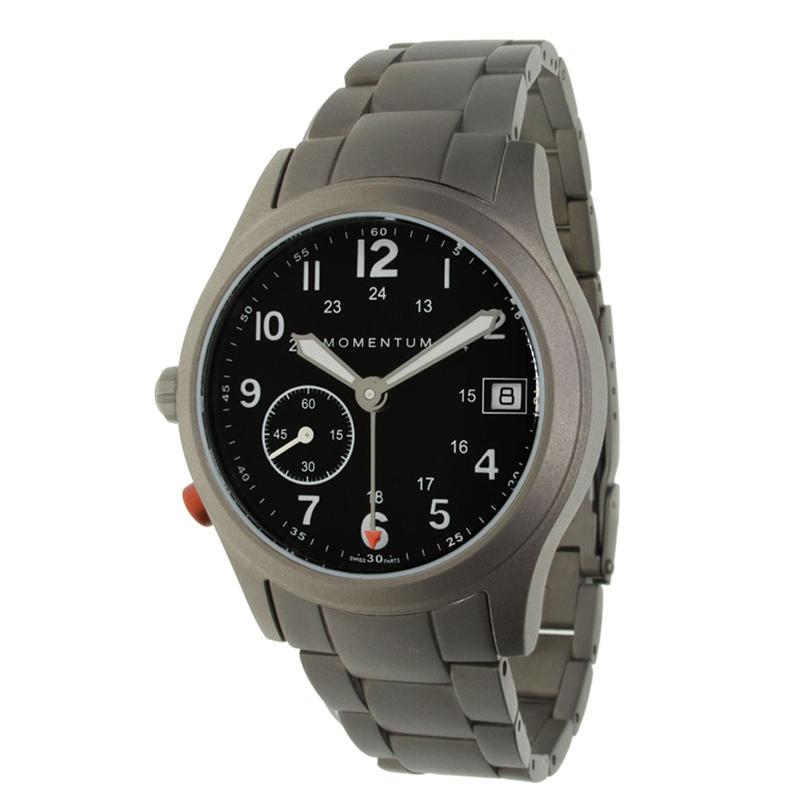 Pathfinder III Watch w/Titanium Bracelet Black/Titanium