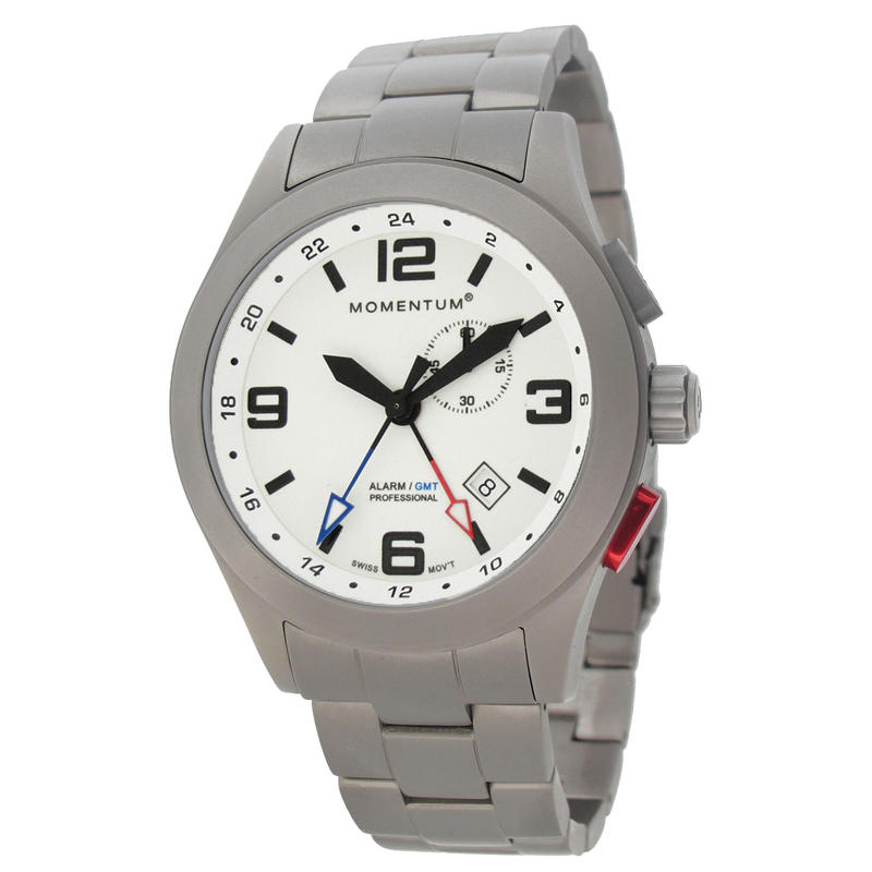 Vortech GMT w/Titanium Bracelet Luminous White/Titanium