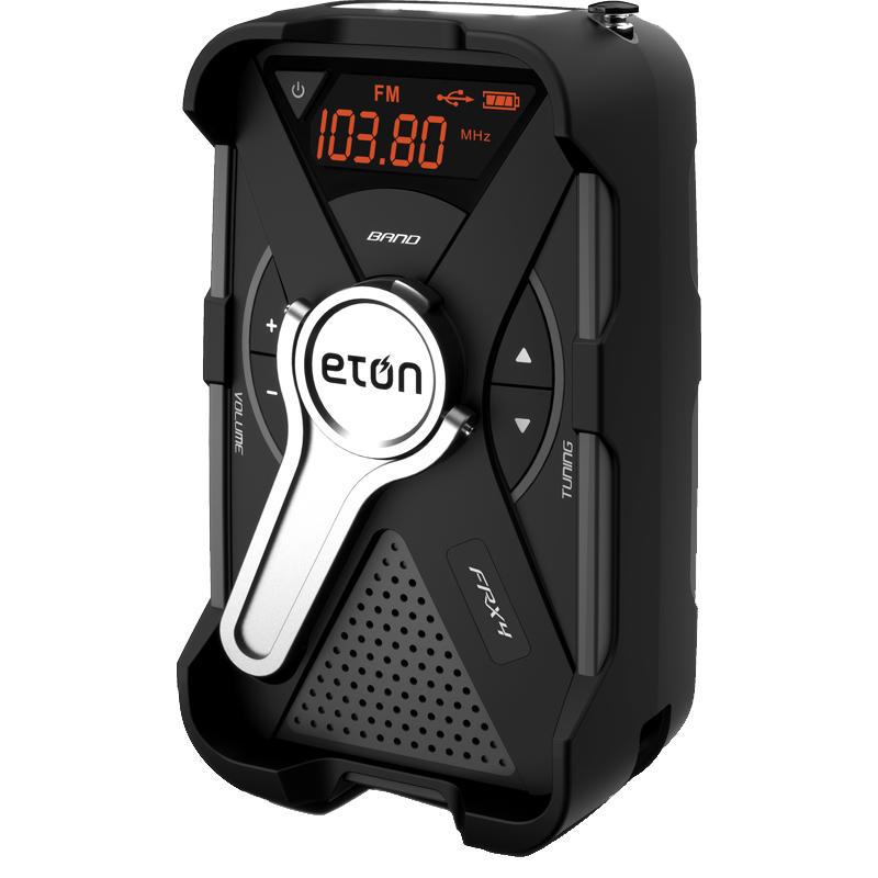 FRX-4 Solar Charged Emerg.Radio/Weather/Phone Chgr Black