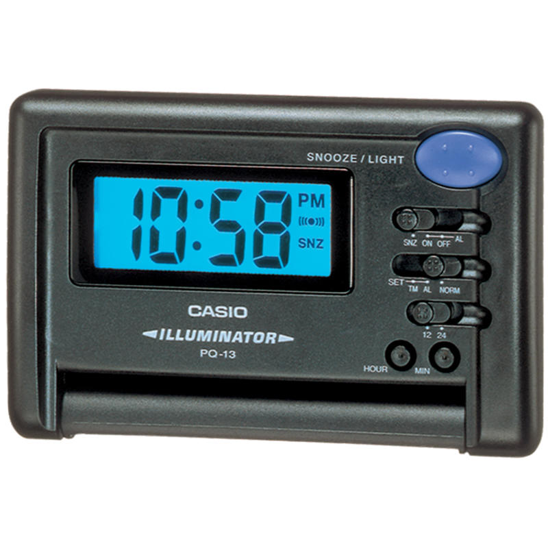 Travel Alarm Clock Black