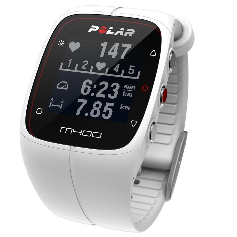 Montre de sport avec GPS M400 avec cardiomètre Blanc