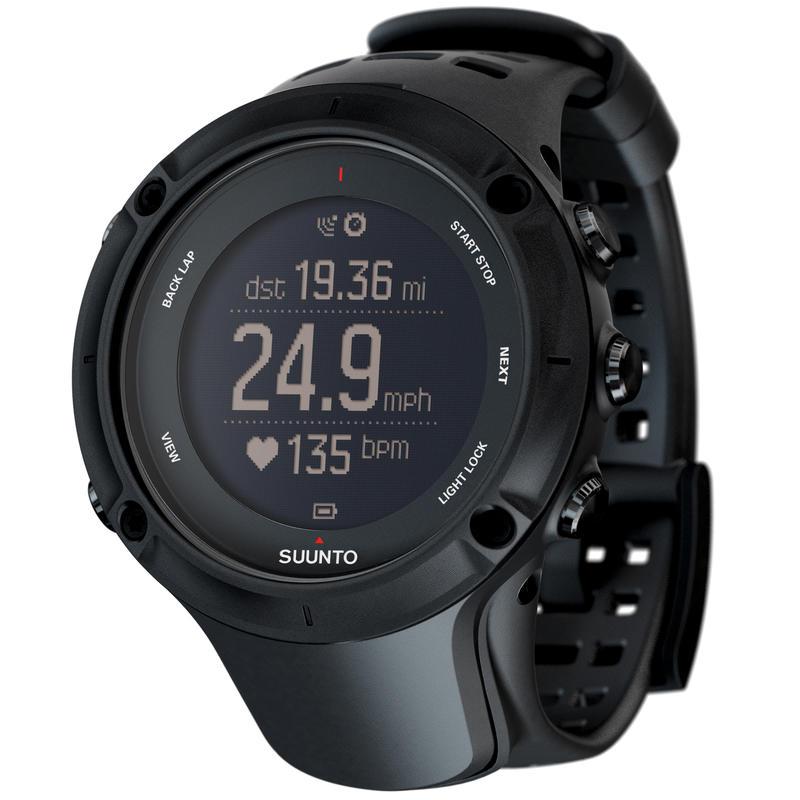 Montre Ambit3 Peak avec cardiomètre Noir