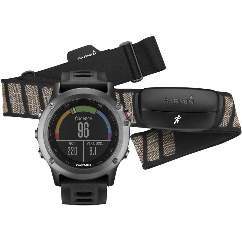 Fenix 3 GPS Watch Bundle Grey/Black