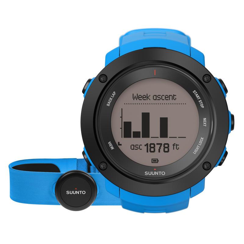Montre Ambit3 Vertical avec cardiomètre Bleu