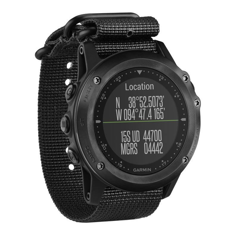 Montre GPS Tactix Bravo avec bracelet en nylon Noir/Noir