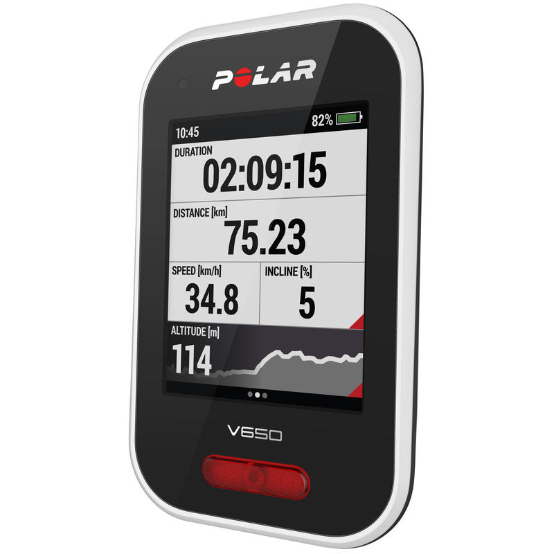 V650 GPS Cycling Computer w/Heart Rate Monitor White/Black