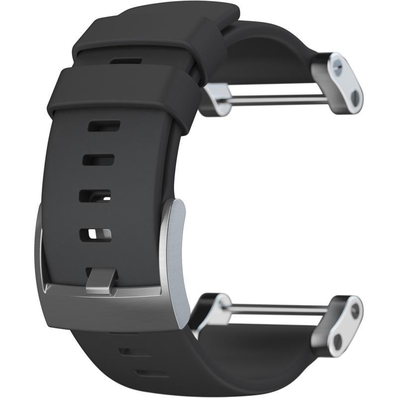 Bracelet Core en caoutchouc plat Noir