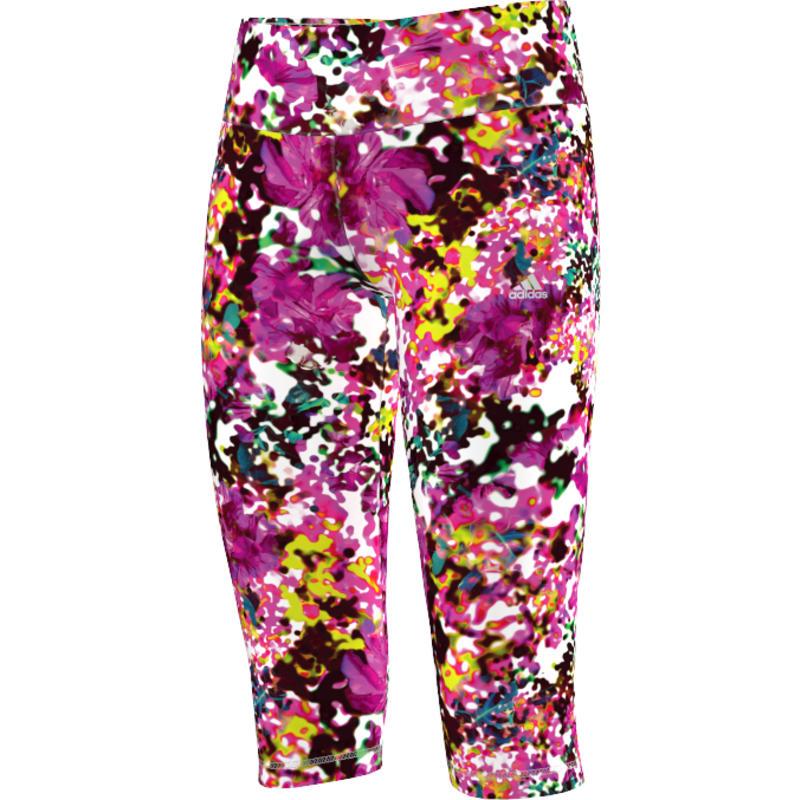 Collant trois-quarts Wardrobe Fitness Q2 Multicolore/Argent mat