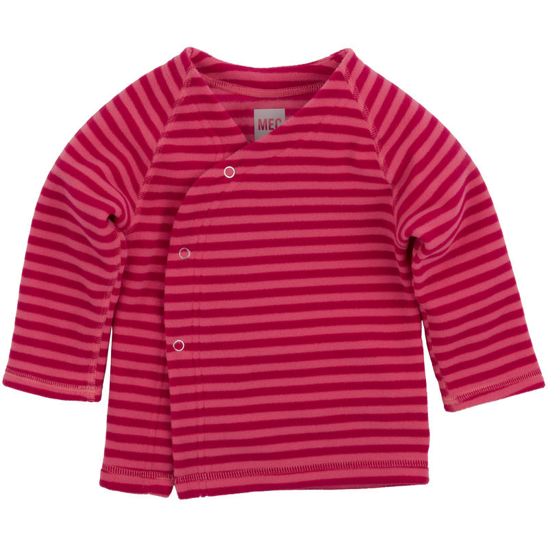 Gilet Bambini Rayures rouge à joues sorbet rose