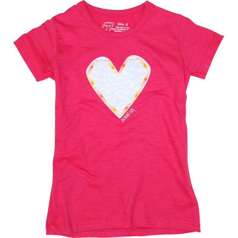 T-shirt Kayak Heart Chèvrefeuille