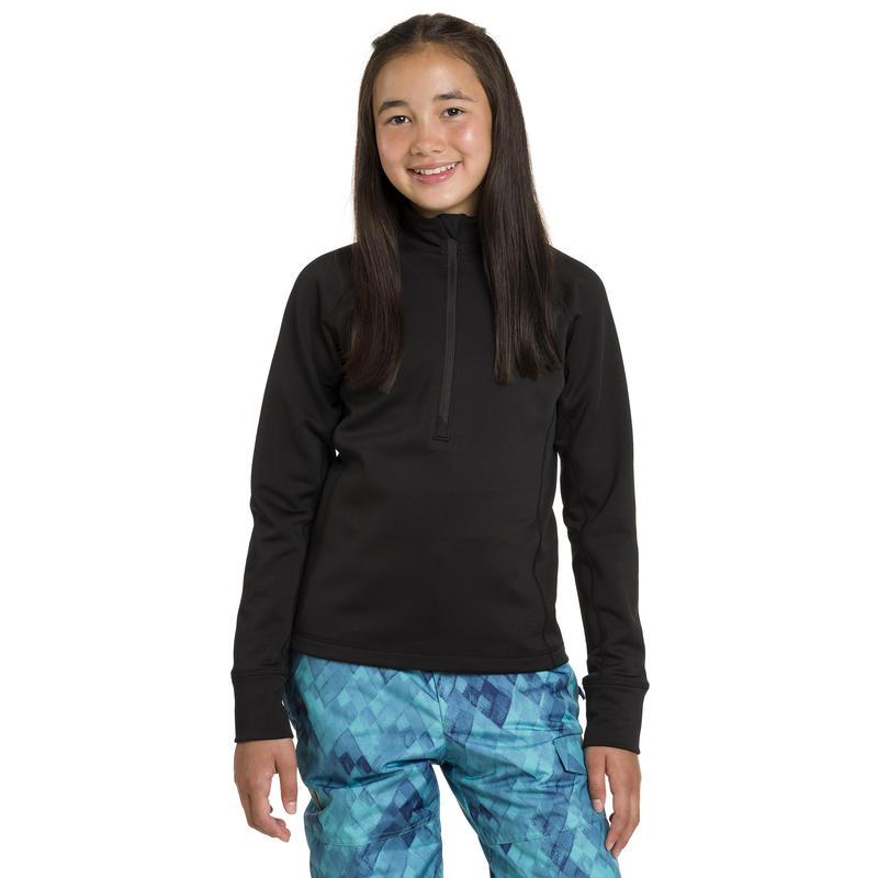Mistral Long-Sleeved Zip-T Black