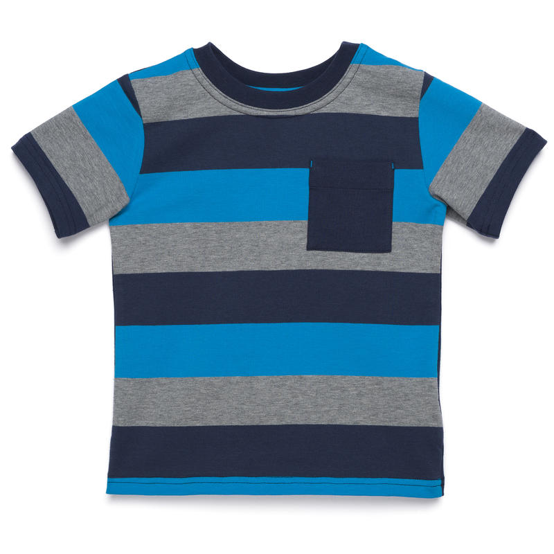 Liam Short-Sleeved T-Shirt Midnight Blue-Regatta Large Stripe/Midnight Blue