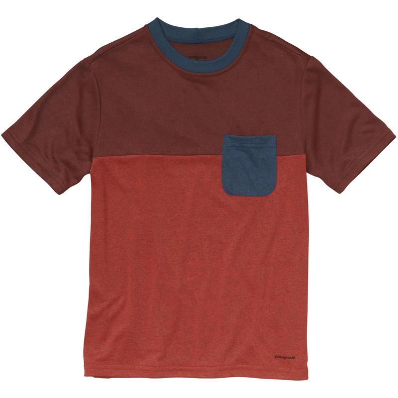 T-shirt Polarized Colourblock Rouge turc