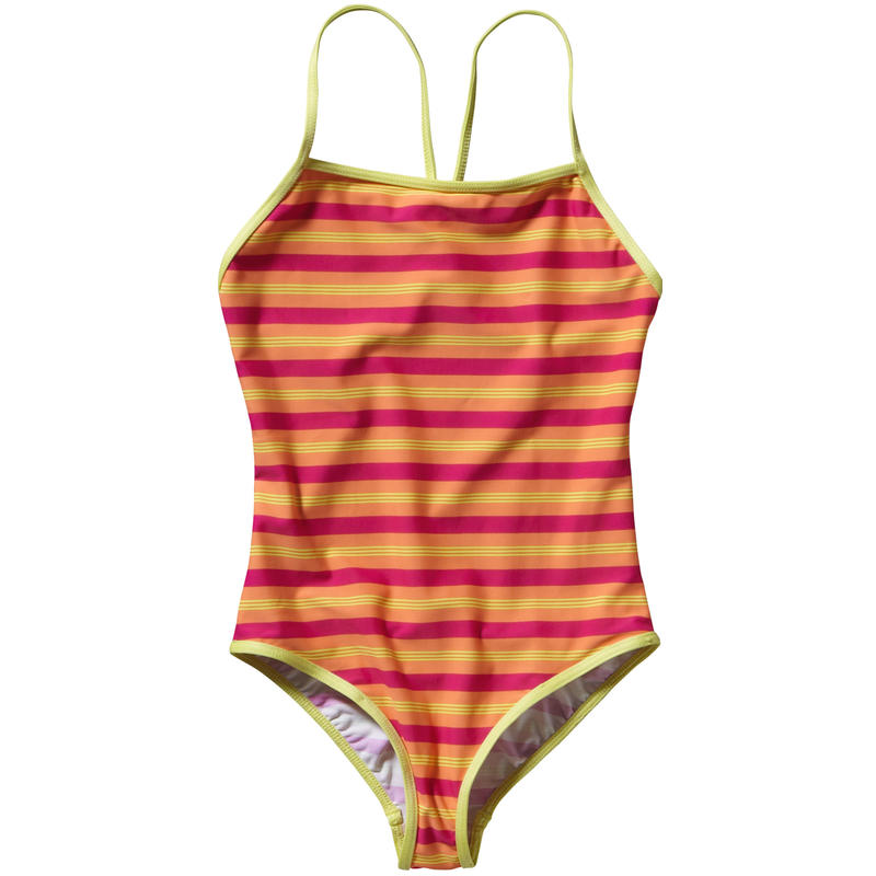 Maillot de bain T-Back Rayures Fitzby/Sorbet pêches