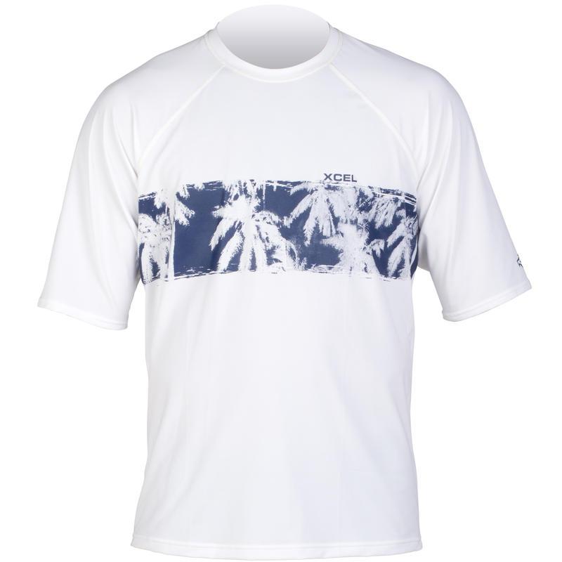 Palm Tapa Short Sleeve Shirt White