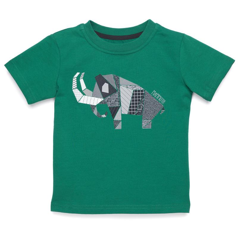 T-shirt Tyler Mammouth gris-vert bleu ultramarin