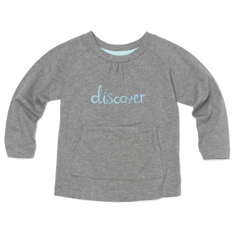 Leah Long Sleeve Tee Grey Heather Discover Graphic