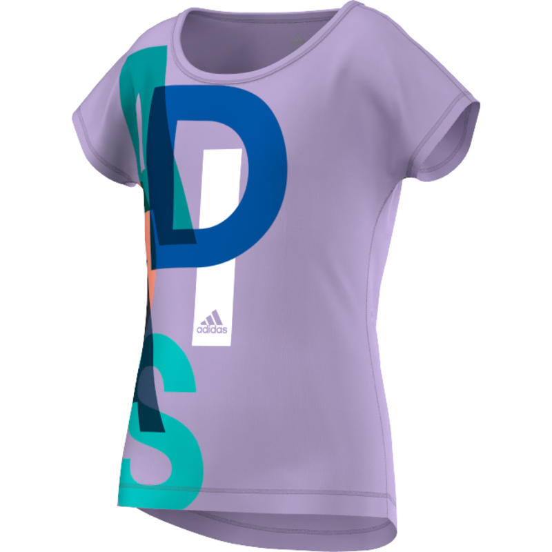 T-shirt Wardrobe Fitness Logo Lueur pourpre/Argent mat