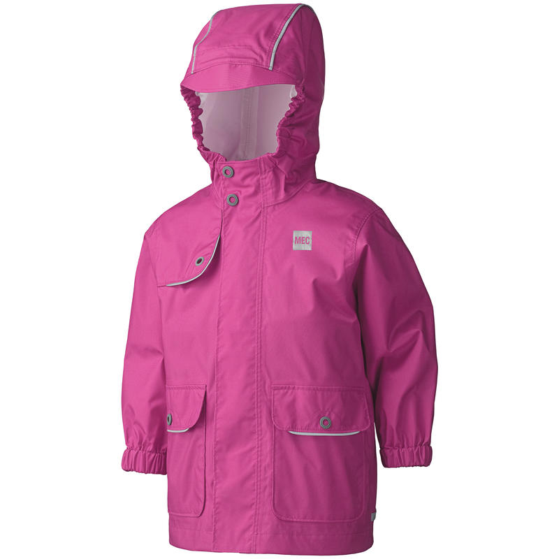 Manteau imperméable Reflective Punch rose