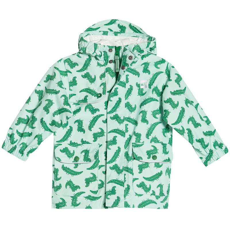 Reflective Rain Jacket Aqua Mist Raining Crocs Print