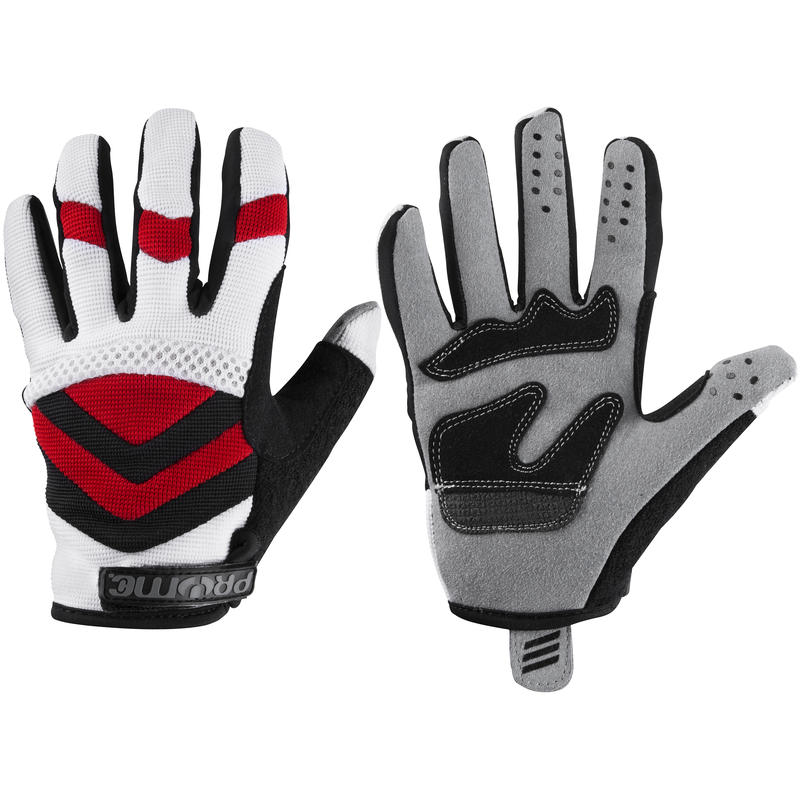 Trailhands 3 Full-Finger Bike Gloves Red/White