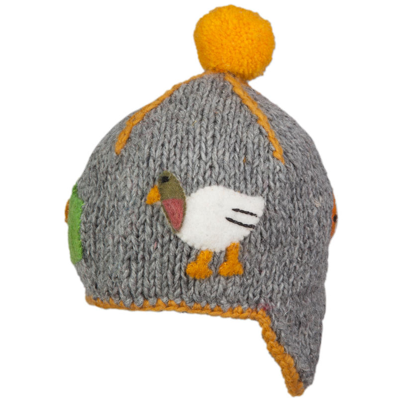 Tuque Pond Gris chiné/Orange