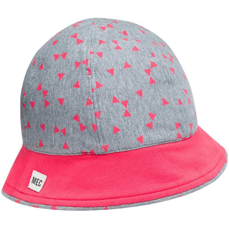 Chapeau de soleil Seashore Grey Heather-Watermelon Confetti Print