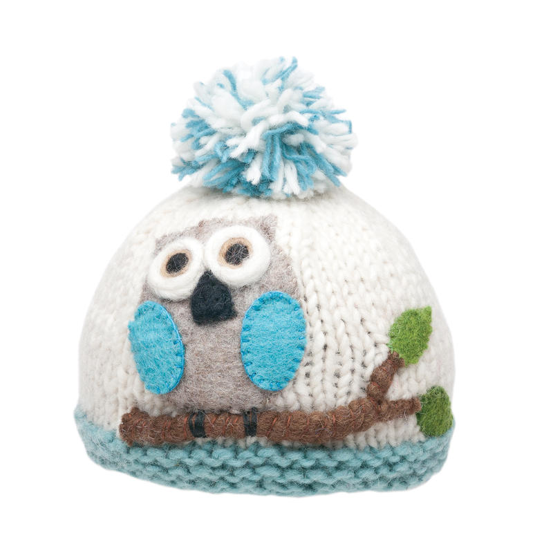 Tuque Owl Blanc