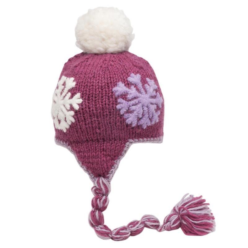 Frosty Earflap Hat Violet