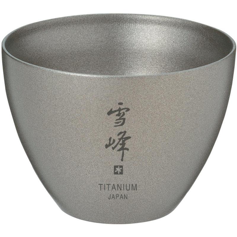 Tasse isolante à saké en titane