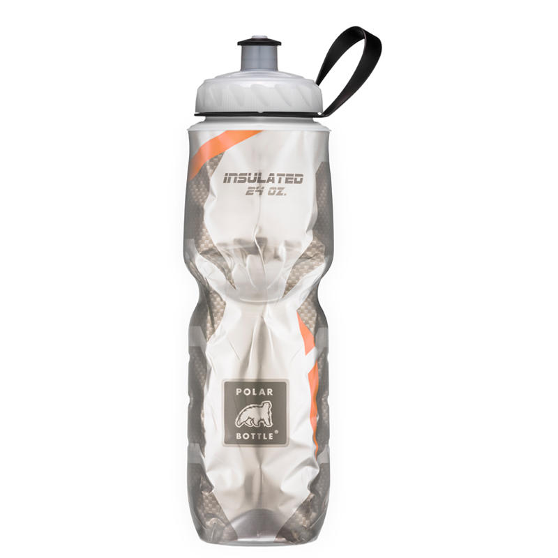 Insulated 710ml Water Bottle Orange Pattern