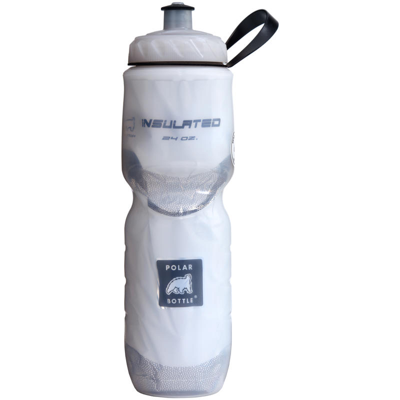 Insulated 710ml Water Bottle White