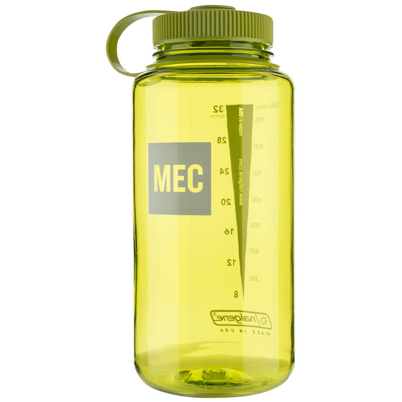 Everyday Wide-Mouth Loop-Top Water Bottle Spring Green MEC Logo