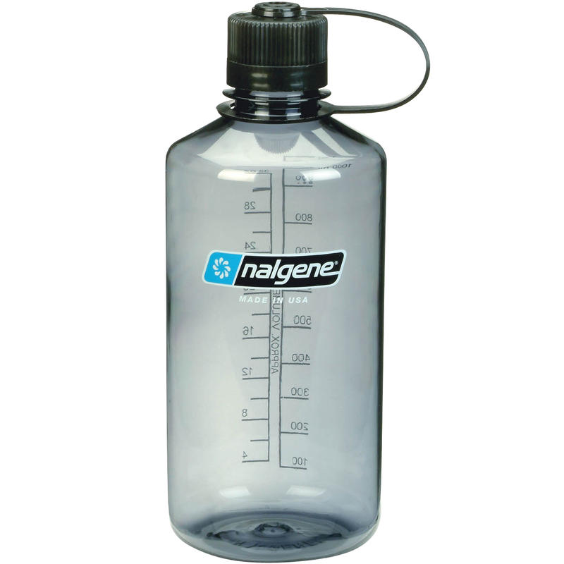 1L Everyday Narrow-Mouth Water Bottle Gray
