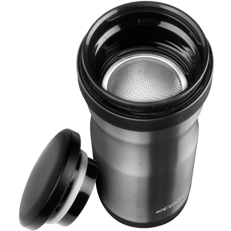 Bouteille isolante Tea Traveller - 400 ml Acier inoxydable/Charbon de bois